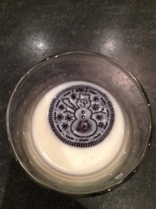 Holiday Oreo's in Milk