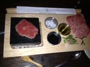 Kobe Beef Hot Rocks in Big Sky, Montana