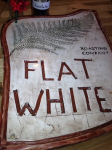 A flat sign at Flat White