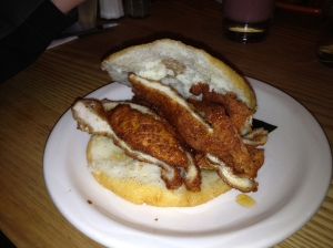 The Zach- Honey Fried Chicken in an Arepa