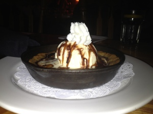 Fresh Baked Skillet Chocolate Chip Cookie with Vanilla Ice Cream, Bucks T4 in Big Sky, MT
