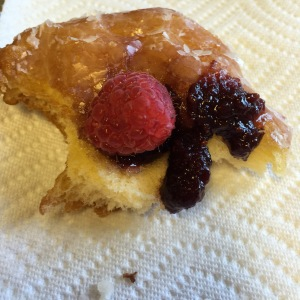 The Raspberry Topped Donut. It is so simple, I wonder why no one else has tried to master this excellent dish.
